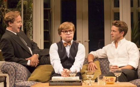 Geoffrey Streatfeild, Jonathan Broadbent and Julian Ovenden. Photo: Johan Persson.