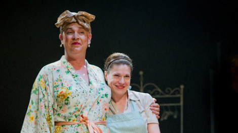 Matthew Rixon as Bessie and Tamsin Carroll as Rita