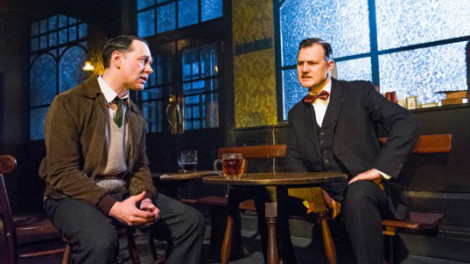 Reece Shearsmith as Syd and David Morrissey as Harry. Photo by Tristram Kenton.
