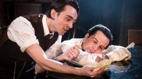 David Dawson as Homer and Andrew Scott as Langley. Photo by Marc Brenner.