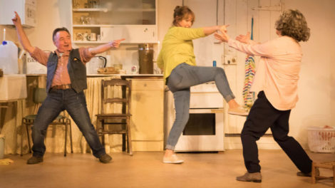Ron Cook (Robin), Deborah Findlay (Hazel) and Francesca Annis (Rose). Photo by Johan Persson.